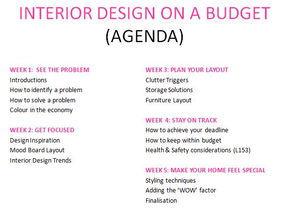 Interior Design On A Budget Course