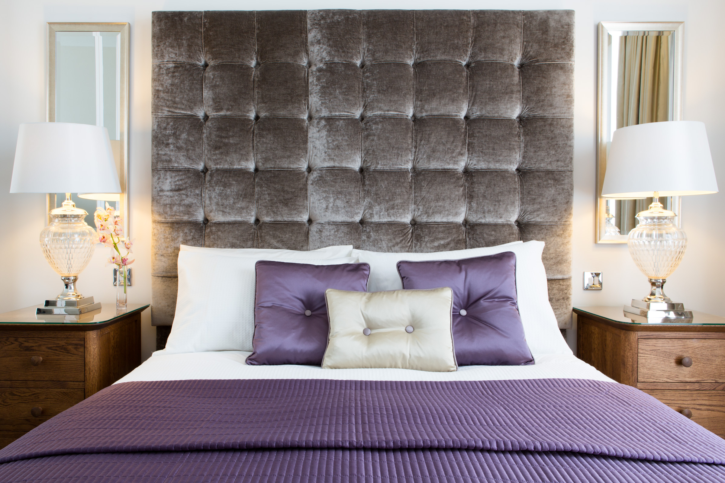 bespoke feature buttoned headboard