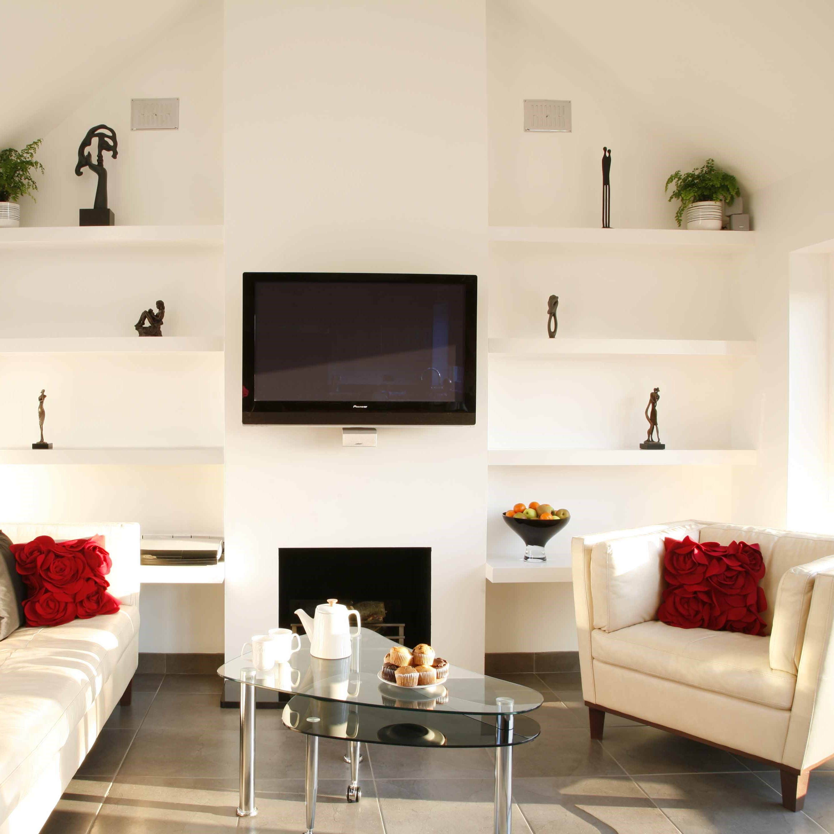open plan interior design lounge